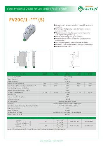 FATECH surge arrester FV20C/1-150 S for low voltage power system