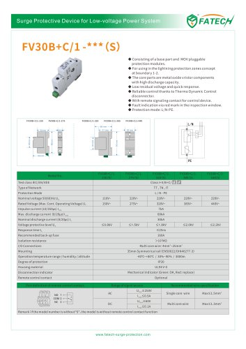 FATECH surge arrester FV30B+C/1-275 for ac power supply
