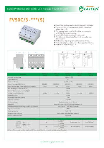 FATECH surge arrester FV50C/3-440 for ac power system