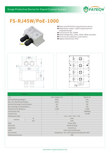 FATECH surge protector FS-RJ45W/POE-1000