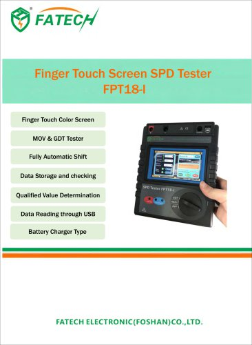 Finger Touch Screen SPD Tester  FPT18-I