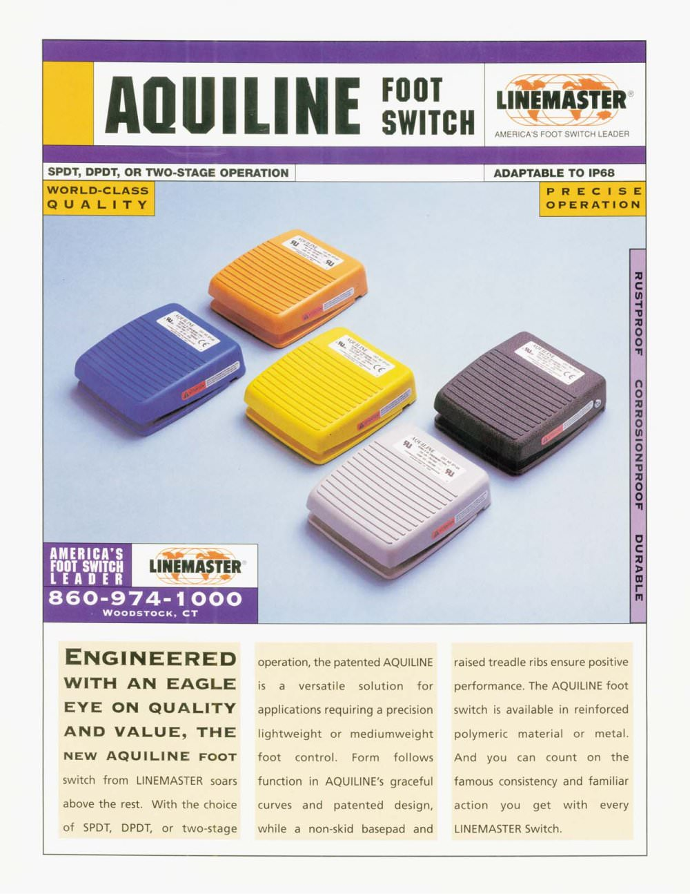 Aquiline Foot Switch Linemaster Pdf Catalogue Technical Dpdt Footswitch Wiring 1 2 Pages