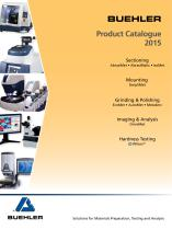 Buehler Product Catalogue 2013