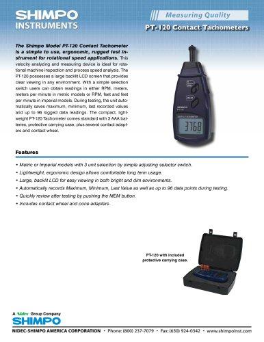 PT-120 Contact Tachometer - Nidec-SHIMPO - PDF Catalogs | Technical