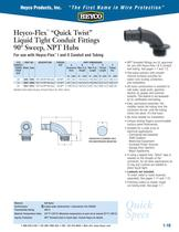 Heyco-Flex� �Quick Twist� Liquid Tight Conduit Fittings ...