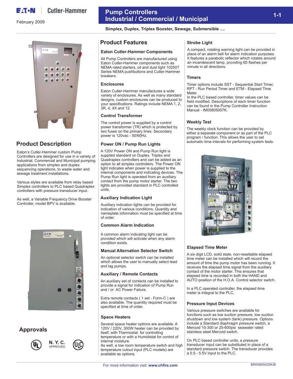 Booster Pump Controllers Cutler Hammer Pdf Catalogue Technical Fuse Box 1 12 Pages
