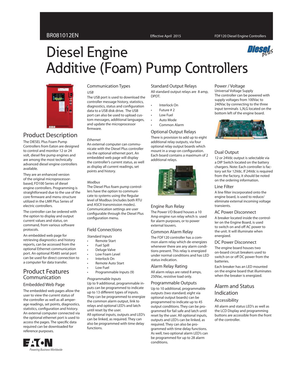 Fdf120 Diesel Engine Additive Foam Cutler Hammer Pdf Catalogue Current Alarm Relay 1 2 Pages