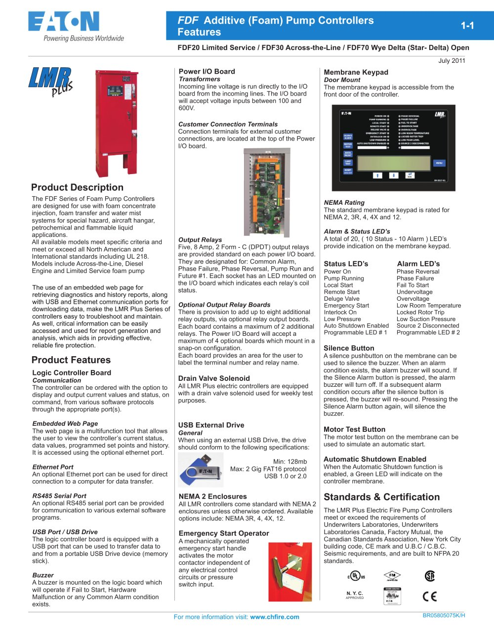 Fdf20 Limited Service Additive Foam Pump Controllers Cutler Mem Contactor Wiring Diagram 1 4 Pages