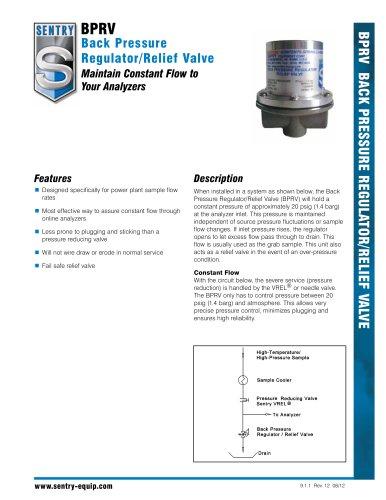 Back Pressure Regulator Valve - Sentry Equipment - PDF