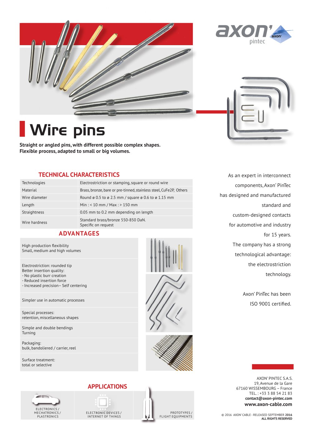 Wire pins - 1 / 1 Pages