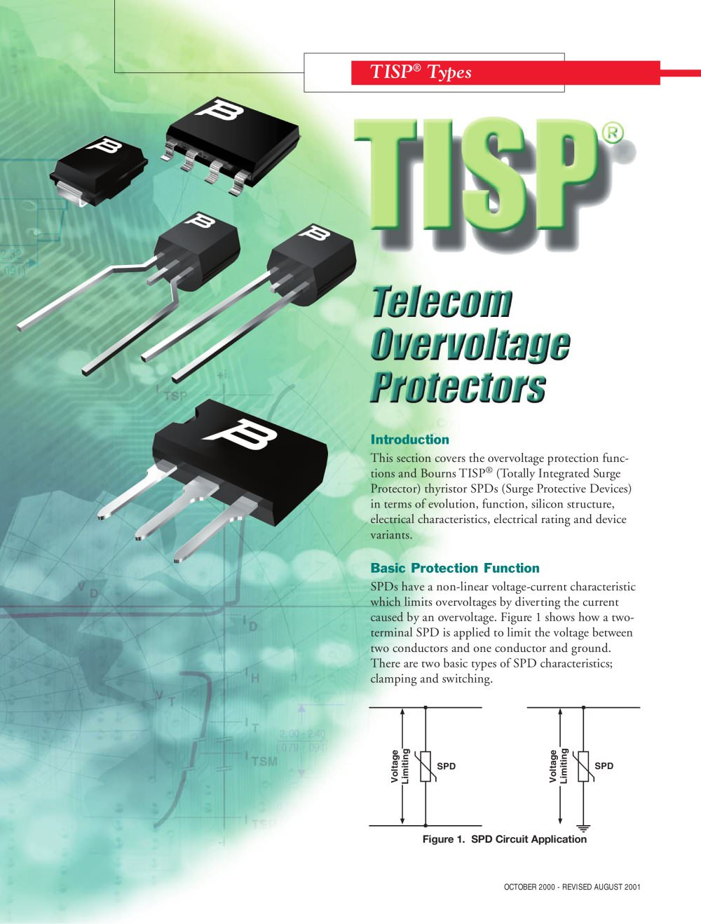 Introduction To Bourns Tisp Telecom Overvoltage Protectors Voltage Protector Circuit 1 18 Pages