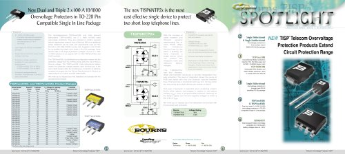 Spotlight I - BOURNS - PDF Catalogs | Technical Documentation | Brochure