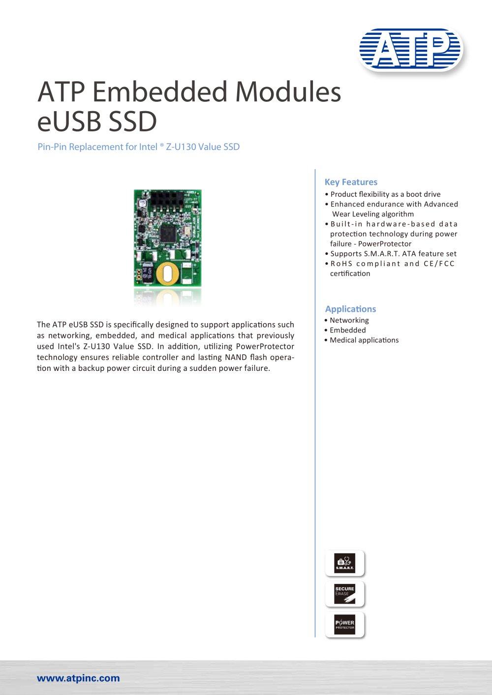 Eusb Ssd Atp Electronics Pdf Catalogue Technical Documentation