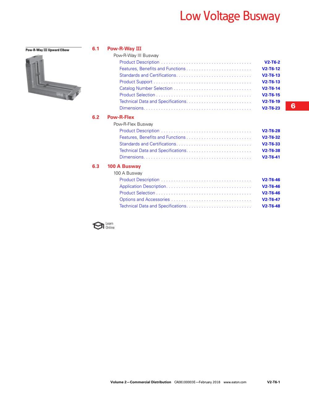 Low Voltage Busway Eaton Commercial Controls Pdf Catalogs