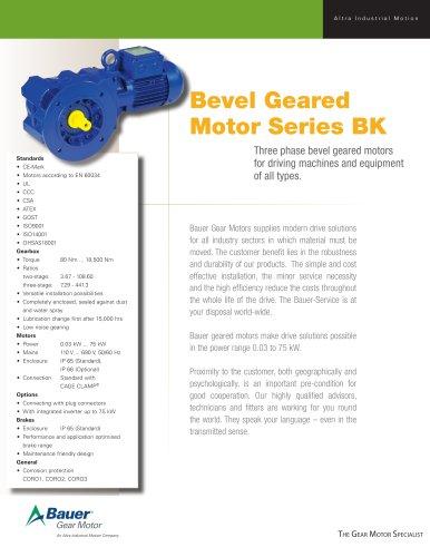 BK Fact Sheet - Bauer Gear Motor - PDF Catalogs   Technical