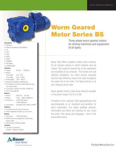 BS Fact Sheet - Bauer Gear Motor - PDF Catalogs   Technical