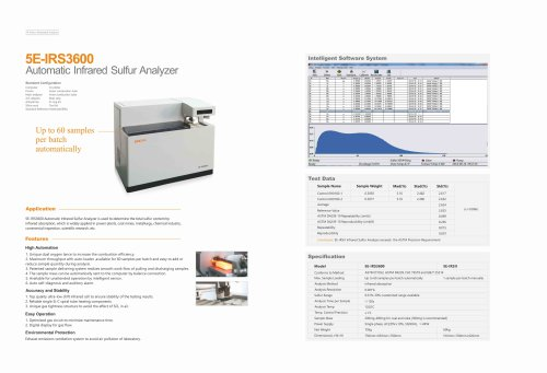 CKIC 5E-IRS3600 Automatic Infrared Sulfur Analyzer Sulfur analyzer / coal / concentration / combustion