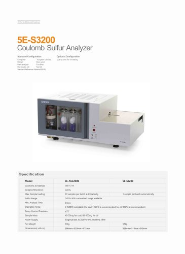 CKIC 5E-S3200 Coulomb Sulfur Analyzer