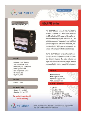 V3 GSM/GPRS MODEM RS232