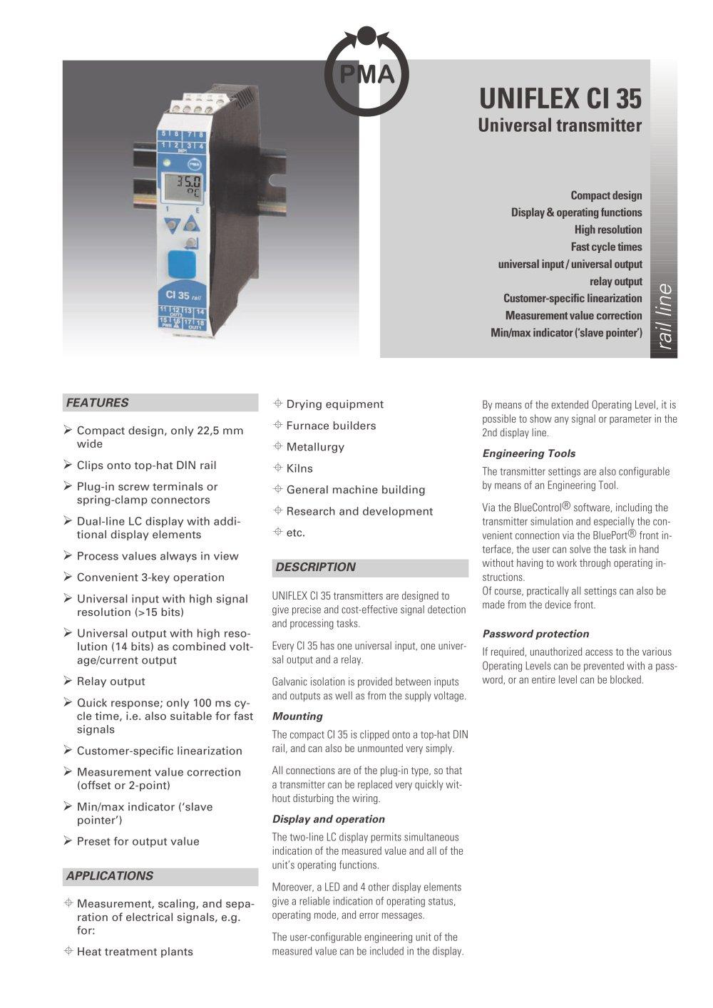 Uniflex specifications