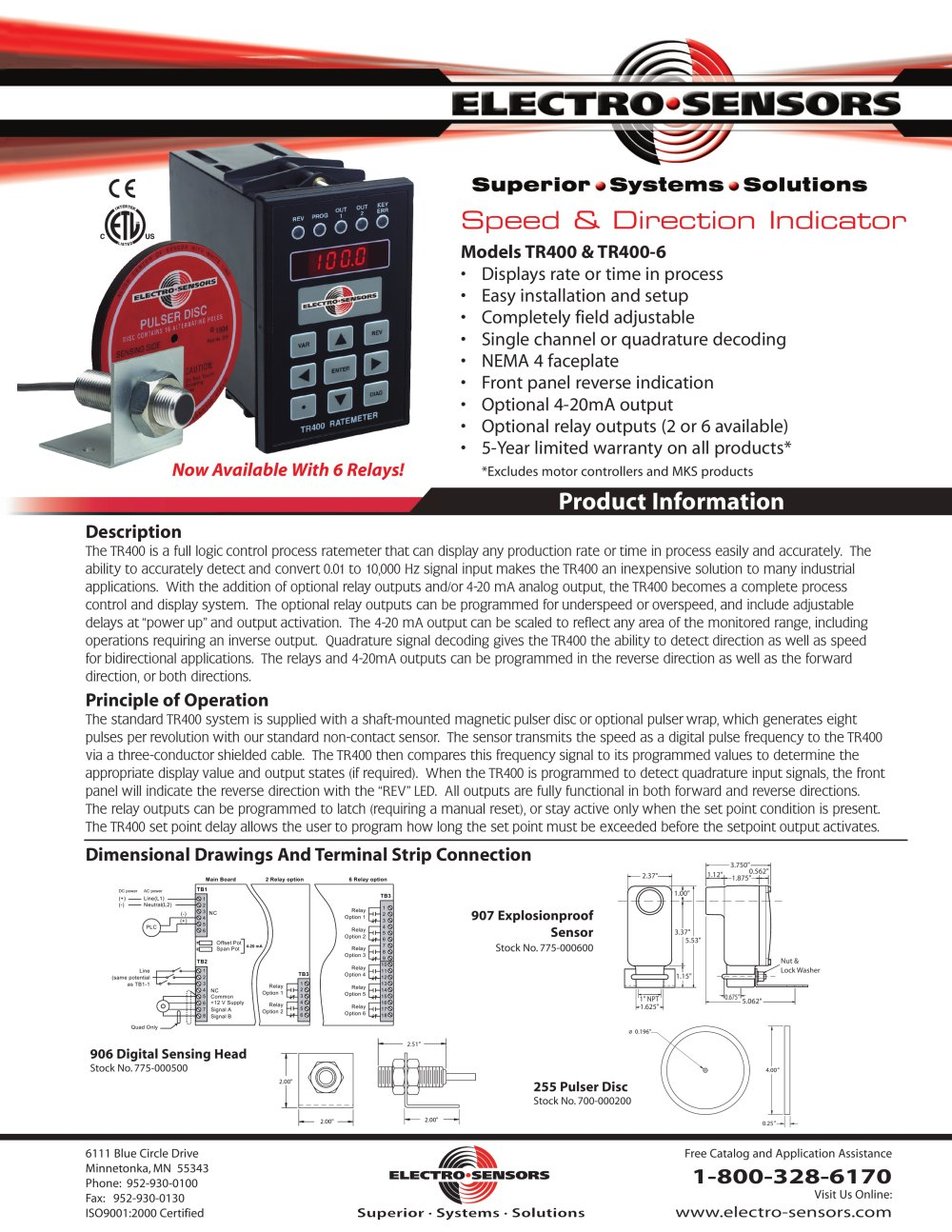 Catalogue - Reverse Rotation Detectors - TR400 - Electro-Sensors ...