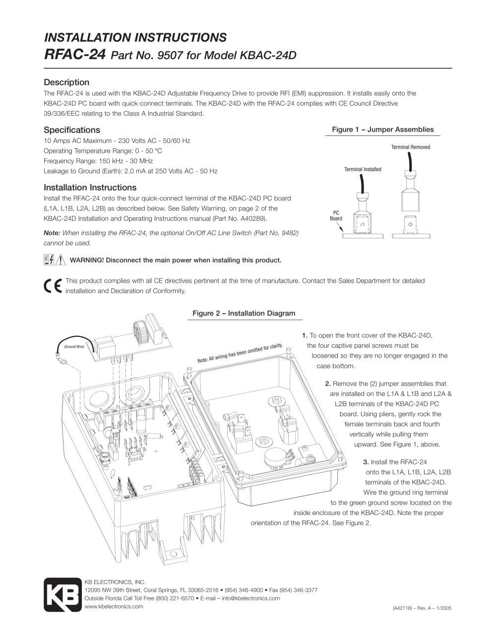 Rfac 24 Kb Electronics Inc Pdf Catalogue Technical