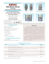 Wall Mount, AC Motor Fan Controls KBWC-315K
