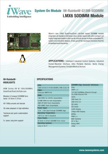 i MX6 SODIMM Module - iWave Systems Technologies Pvt  Ltd
