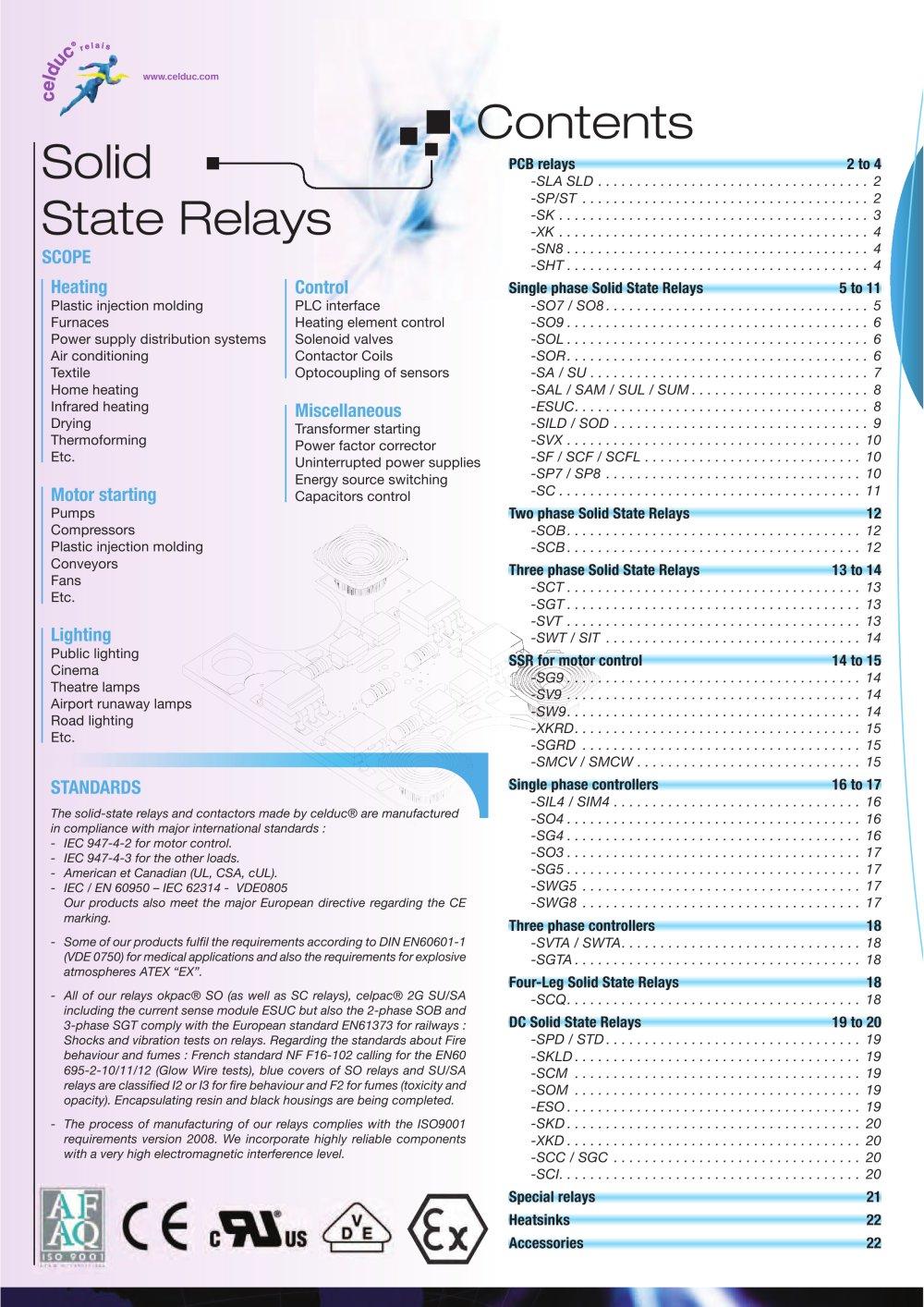Solid State Relays celduc relais PDF Catalogue Technical