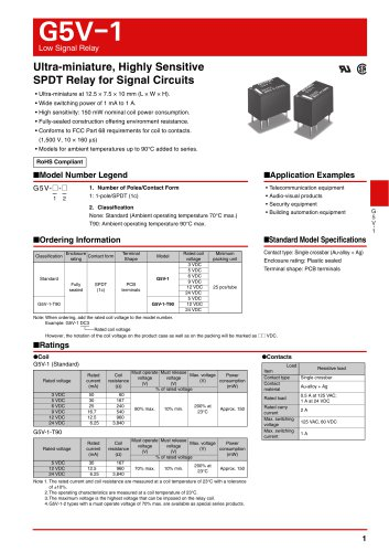 G5V-1 - OMRON Electrical Components - PDF Catalogs | Technical ... on
