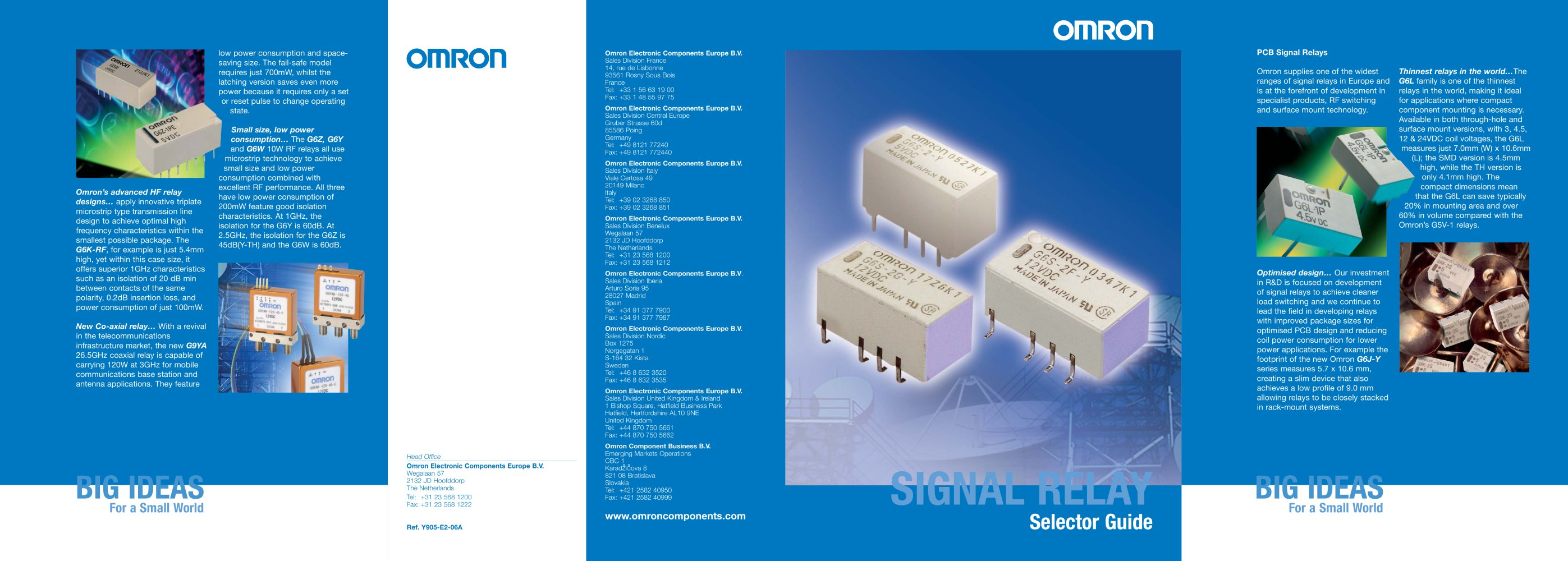Signal Relay Product Brochure Omron Electrical Components Pdf Power Usage 1 2 Pages
