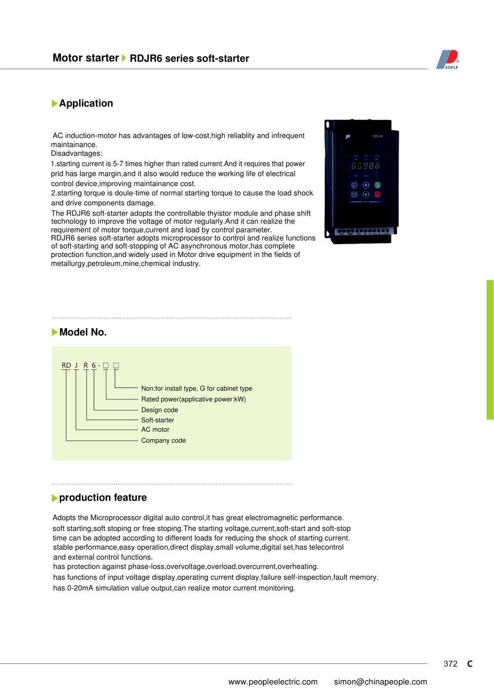 RDJR6 series soft-starter - 1 / 7 Pages
