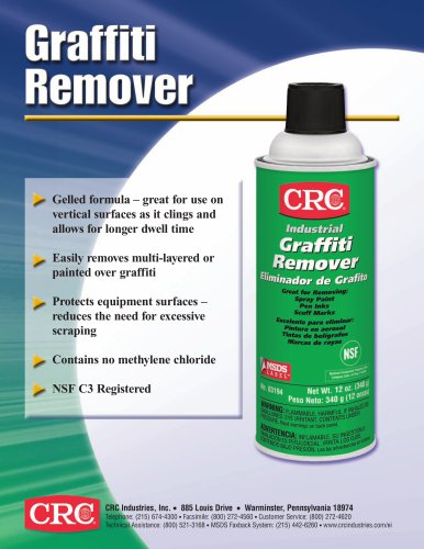 Graffiti Remover - CRC Industries - PDF Catalogs | Technical