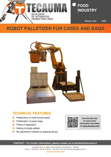 A004 Bag palletizing robot