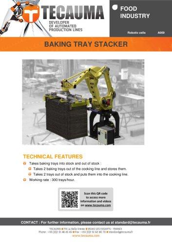 A009 Baking tray stacker