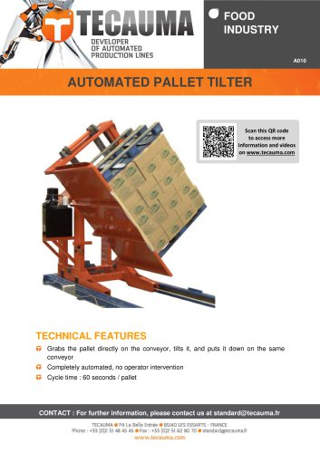 A010 Automated pallet tilter