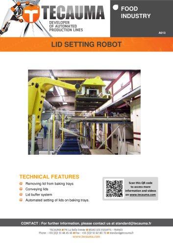 A013 Lid setting robot