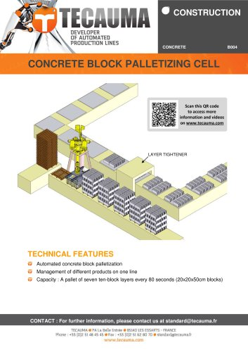 B004 Palletizing robot for concrete blocks