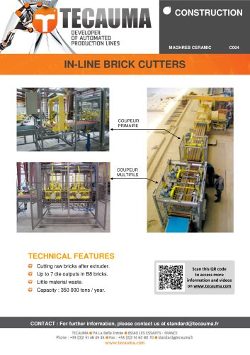 C004 In-line brick cutter