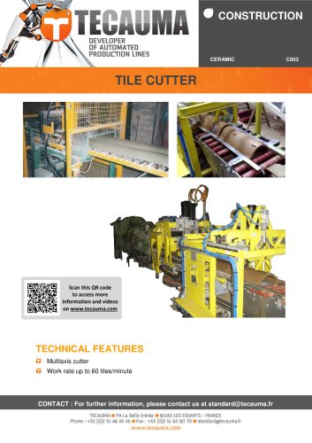 C005 Roof tile cutting machine