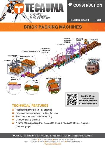 C011 High-rate packing machine for bricks