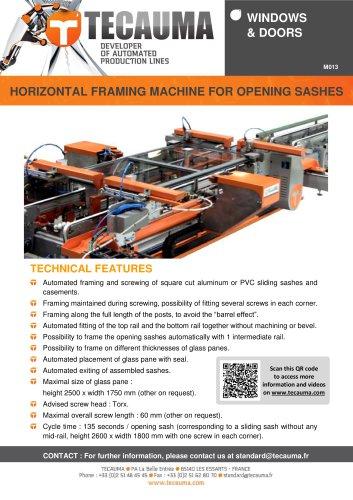M013 Hydraulic clamping machine for window