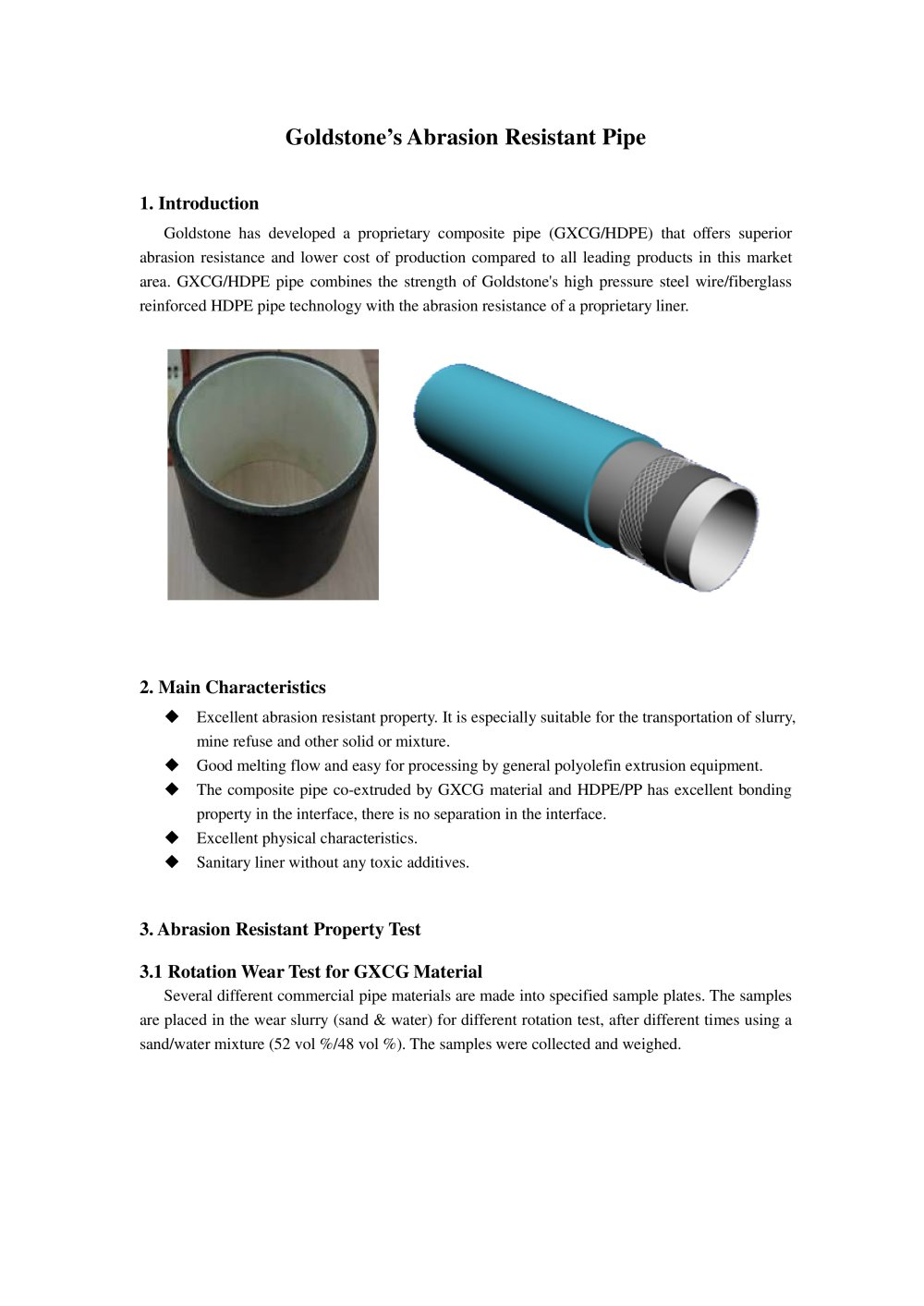 Abrasion Resistance Pipe For Industries Mining