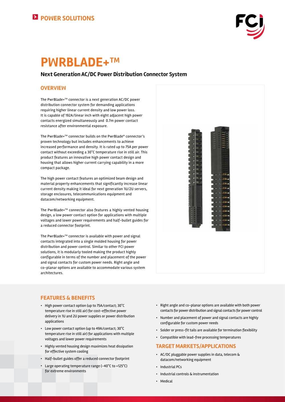 5e860b70b8 PwrBlade+ - FCI - PDF Catalogs