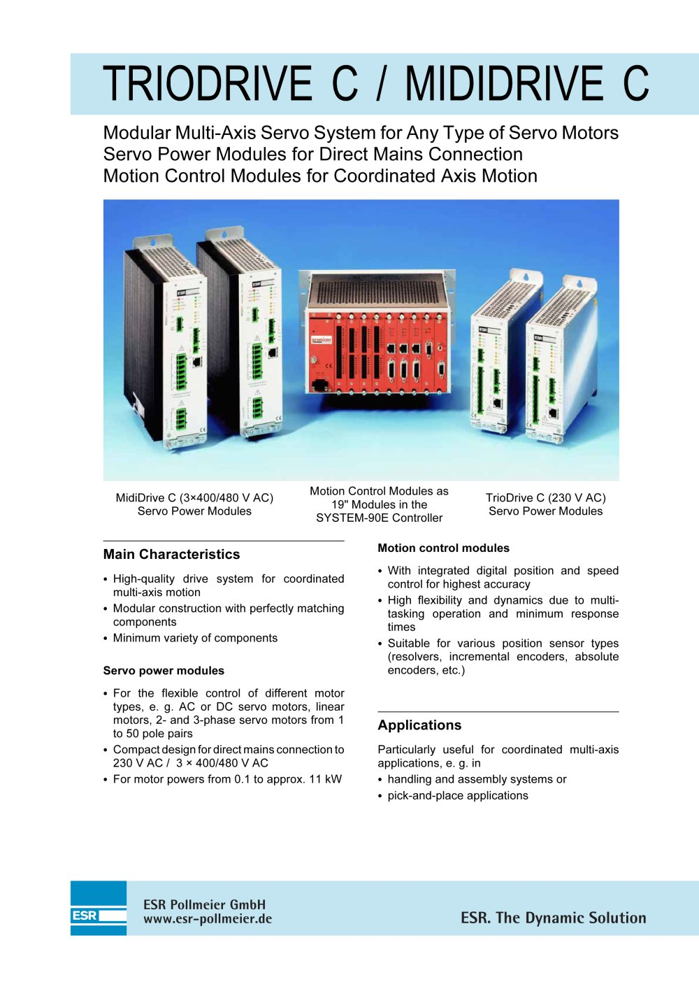 TrioDrive C / MidiDrive C - ESR Pollmeier - PDF Catalogue ...