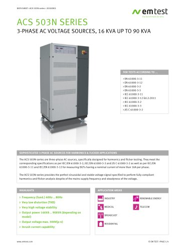 EM test ACS 503N-series