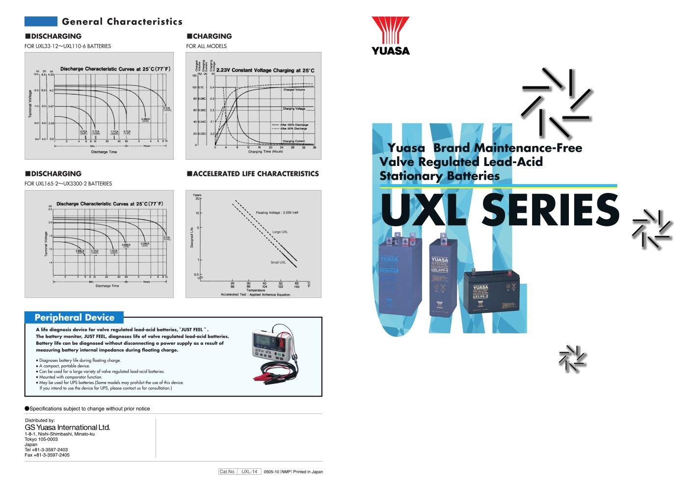 Lead Acid Stationary Batteries Uxl Series Gs Yuasa Pdf Catalogue Battery Diagram 1 2 Pages
