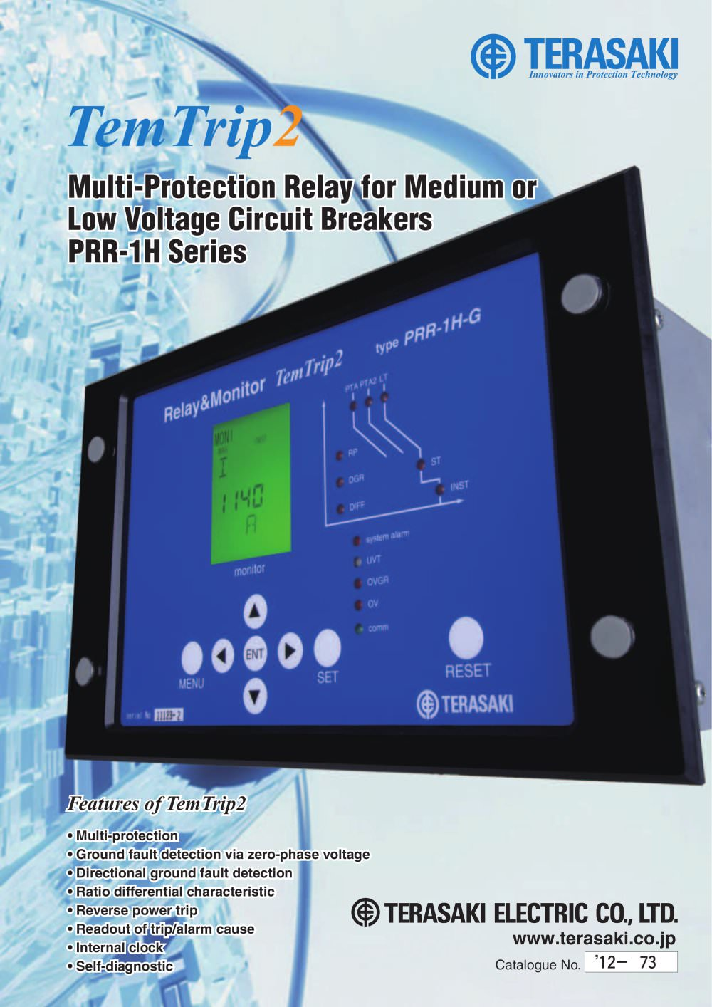 MultiProtection Relay TemTrip Terasaki Electric Circuit - Protection relays and circuit breakers