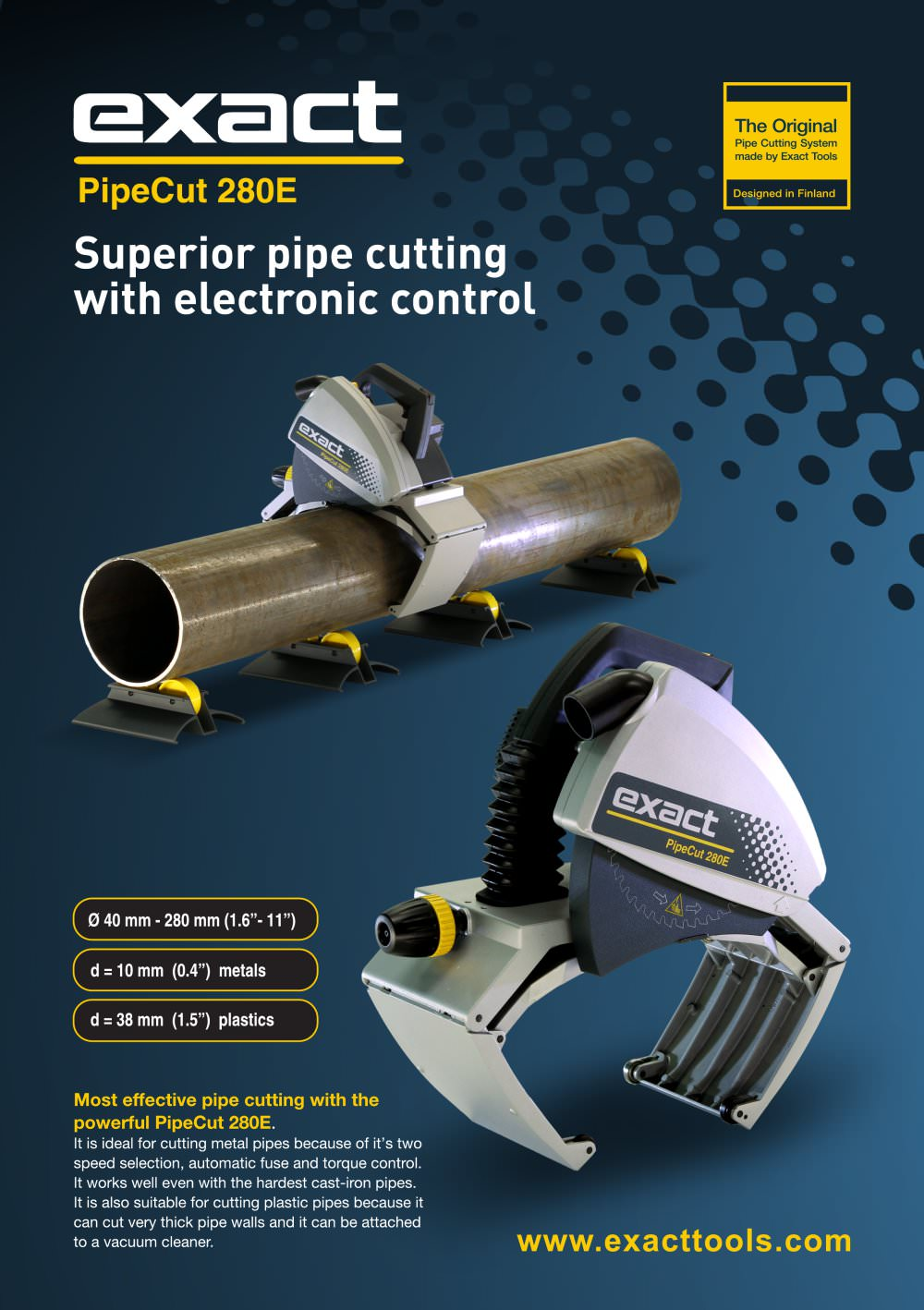 PipeCut 280E - 1 / 2 Pages  sc 1 st  Catalogues Directindustry & PipeCut 280E - Exact Tools Oy - PDF Catalogue | Technical ...