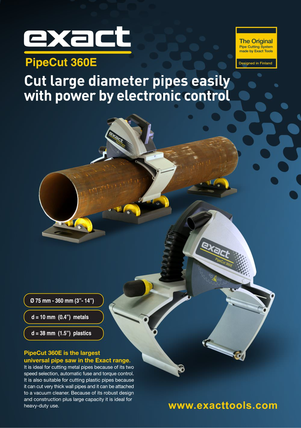 PipeCut 360E - 1 / 2 Pages  sc 1 st  Catalogues Directindustry & PipeCut 360E - Exact Tools Oy - PDF Catalogue | Technical ...